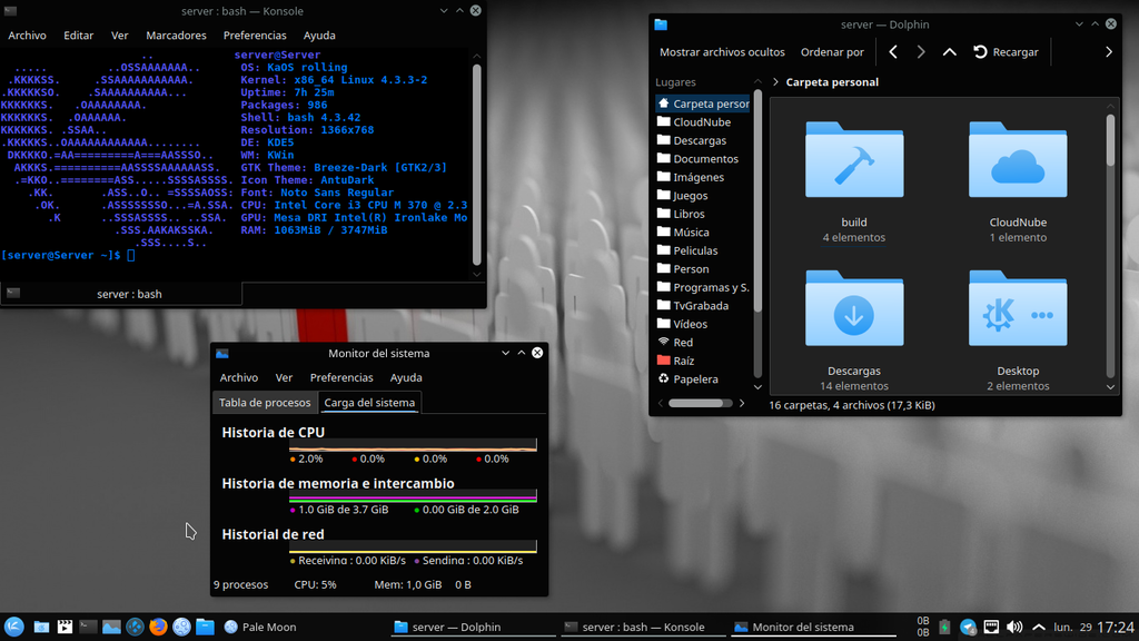 KaOS A Lean KDE Distribution.